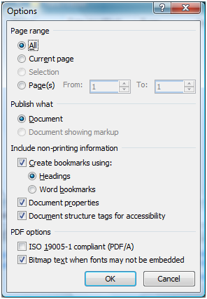 How to convert docx to pdf in word 2007